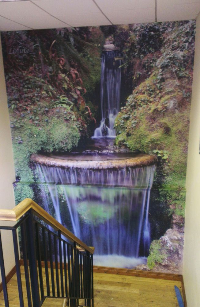Printed graphics installed in Stair well. Wall graphics