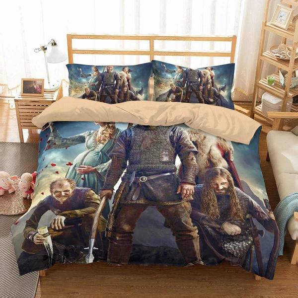 3D Customize Vikings Bedding Set Duvet Cover Set Bedroom