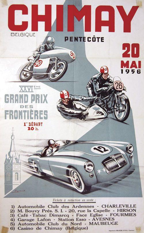 1956 XVI Grand Prix des Frontieres-Chimay Belgium Bikers Gear