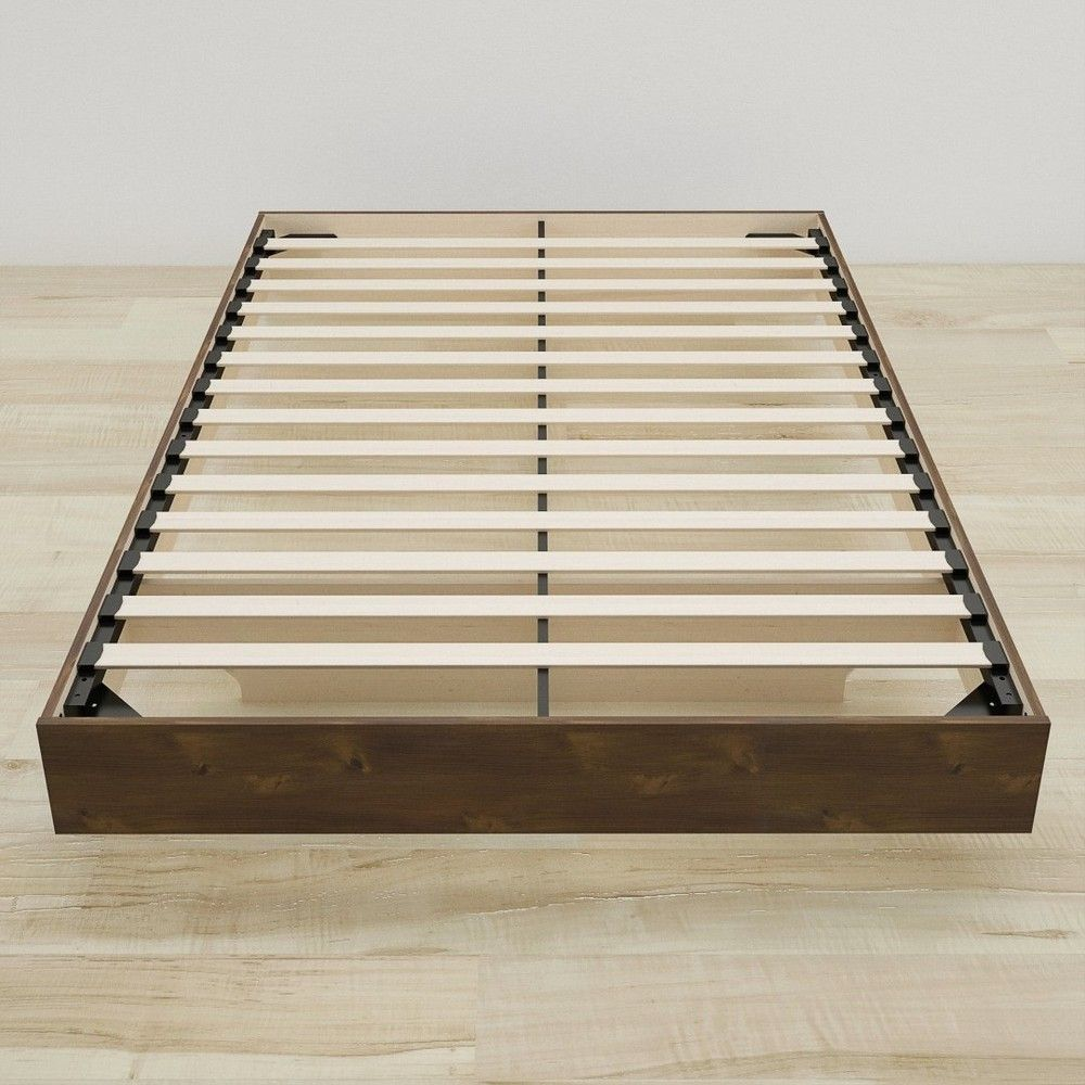 Soho Full Size Slat Headboard And Platform Bed Truffle Nexera