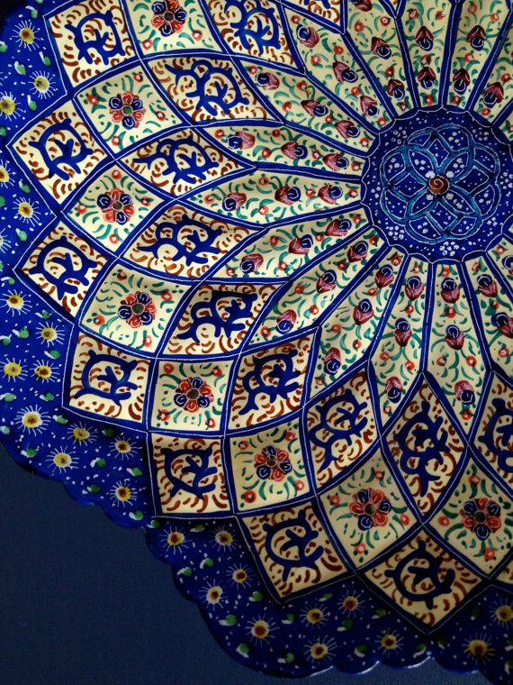 Handmade Hand Painted Traditional Persian Wall Hanging