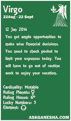 virgo daily horoscope january 12