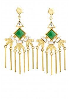 Fan Fringe Earrings