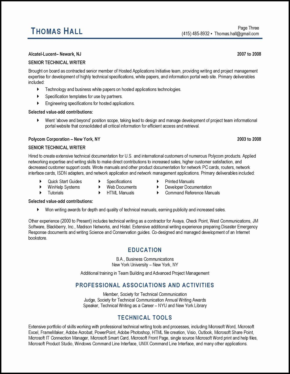 Technical Writer Resume Examples Inspirational Technical