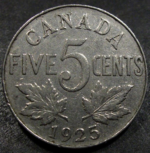 Key Date Low Mintage 1925 King George V Canada 5 Cent Coins Paper Money Coins Canada Five Cents 1922 Now Ebay Key Dates Canadian Coins King George
