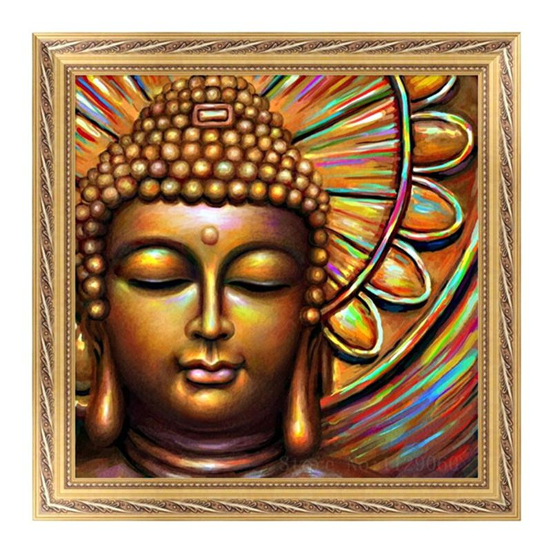 DIY 5D Diamond Embroidery Buddha Statue Painting Stitch Cross Craft Home Decor