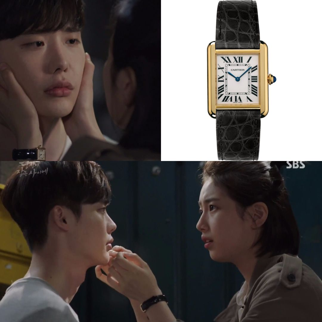 Dramafashion Idol Suzy Pick Cartier Tank Solo Watch Small Model 18kyellowgold Leather 4 600 Fashion Makeup Fashion Korean Actresses