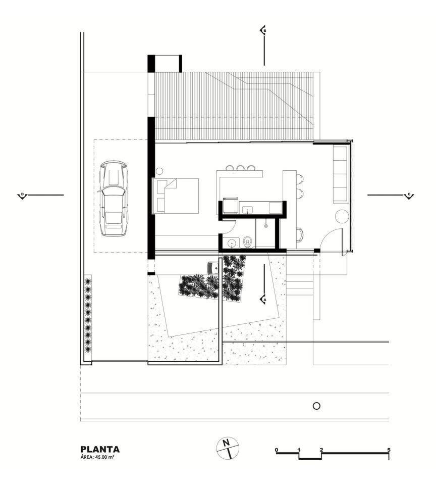 House is a modern bachelor pad in brazil it has a for Bachelor house plans