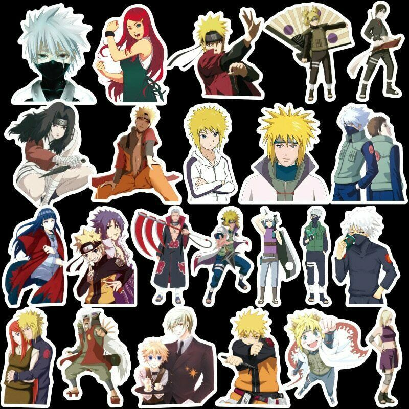 100pcs anime naruto stickers sasuke decals for skateboard