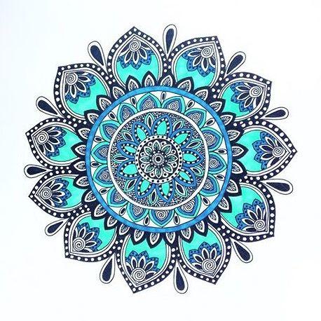 Teal Mandala Mandala Design Art Mandala Drawing Mandala Art Lesson