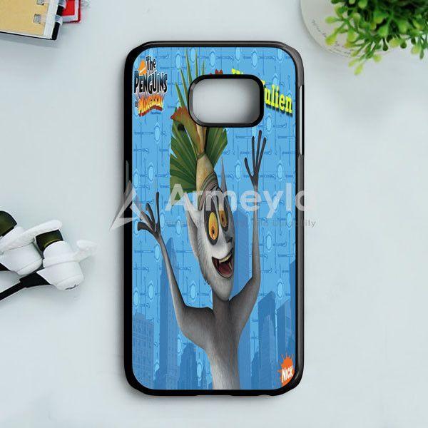 King Julien Penguins Of Madagascar Samsung Galaxy S7 Edge Case | armeyla.com