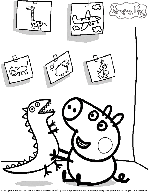 Pin By Yesenia De Arroyo On Coloring Pages Peppa Pig Colouring Peppa Pig Coloring Pages Dinosaur Coloring Pages