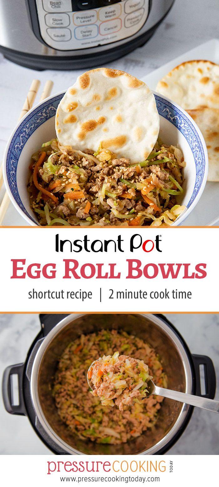 Pork Egg Roll Bowls Instant Pot Recipe #eggrollinabowl