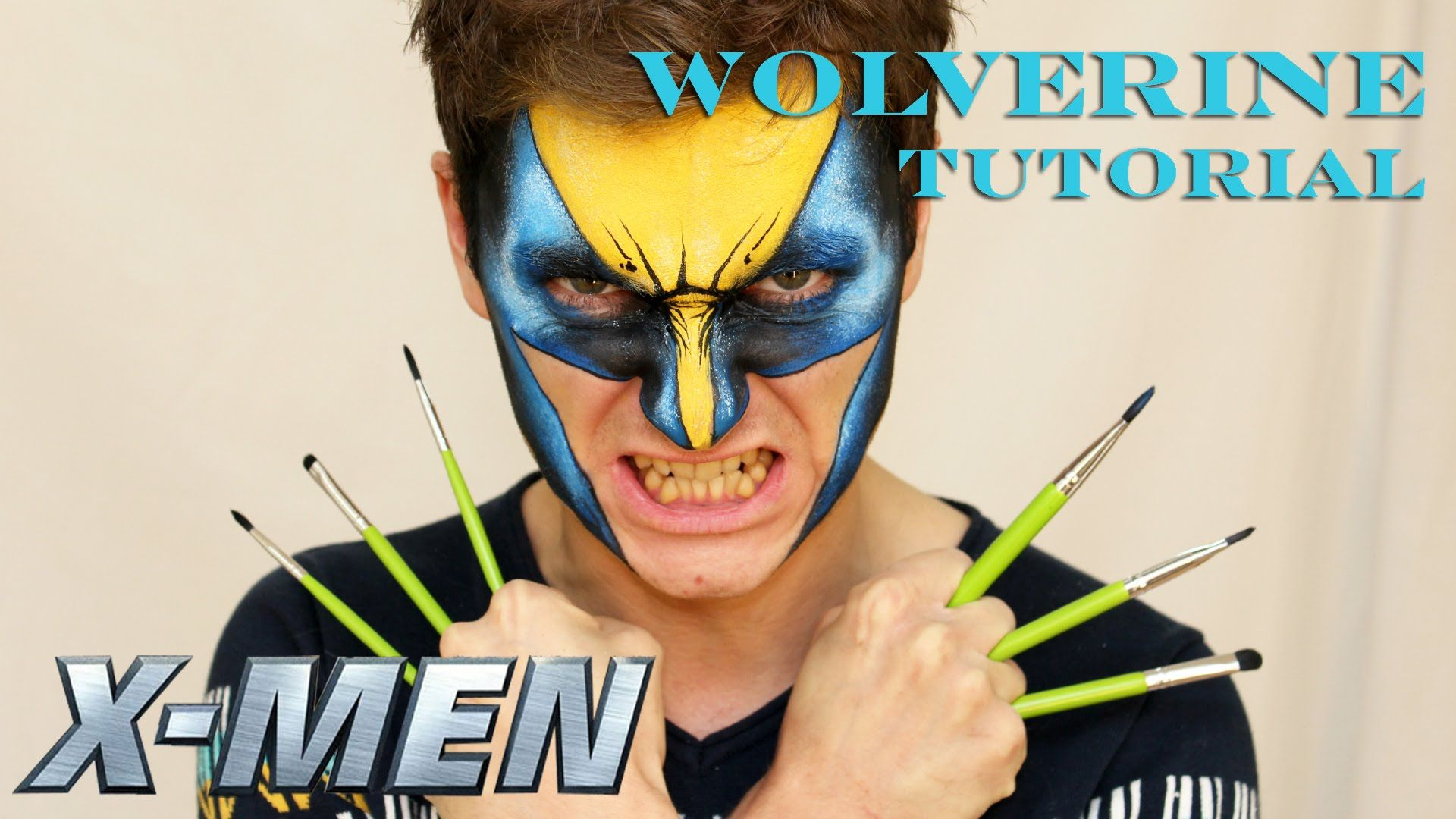 "Wolverine X-Men — Face Painting Tutorial — Аквагрим ""Росомаха"""