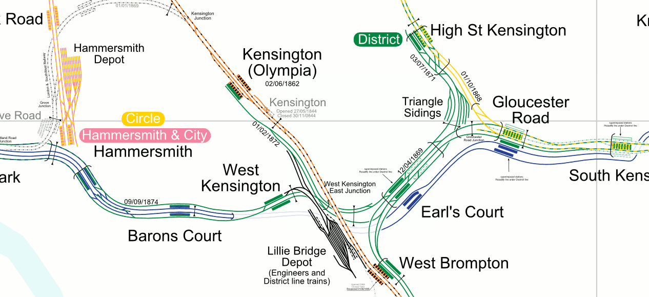 The complexity of Londons tunnels and stations is revealed by