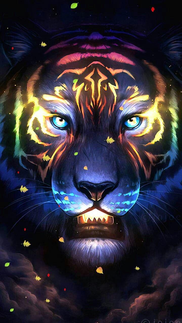 Artistic Tiger Lion Wallpaper Iphone Tiger Images Tiger Art