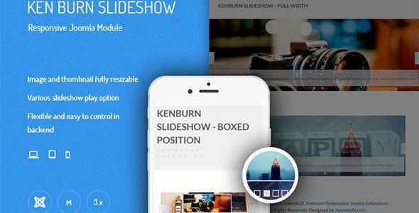 Free Flat Blue UI Kit PSD - TitanUI  Slideshow Widget For Website