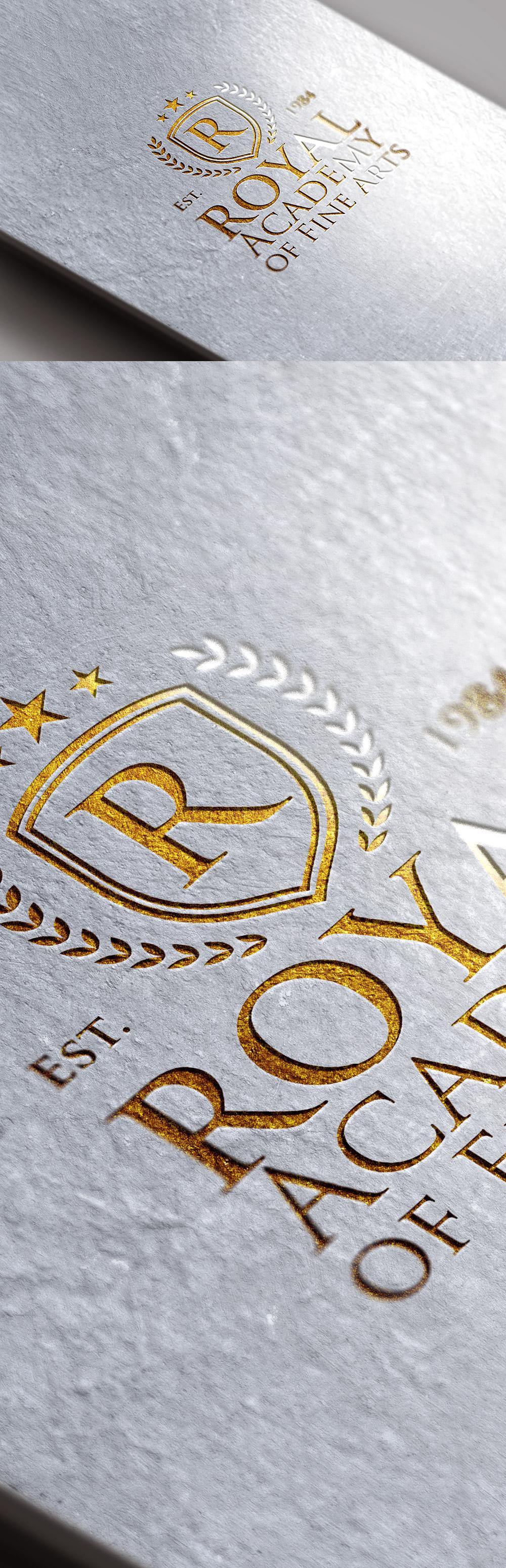 Free Gold Foil Logo Mockup PSD (90 MB)   Graphics Fuel   #free #photoshop…