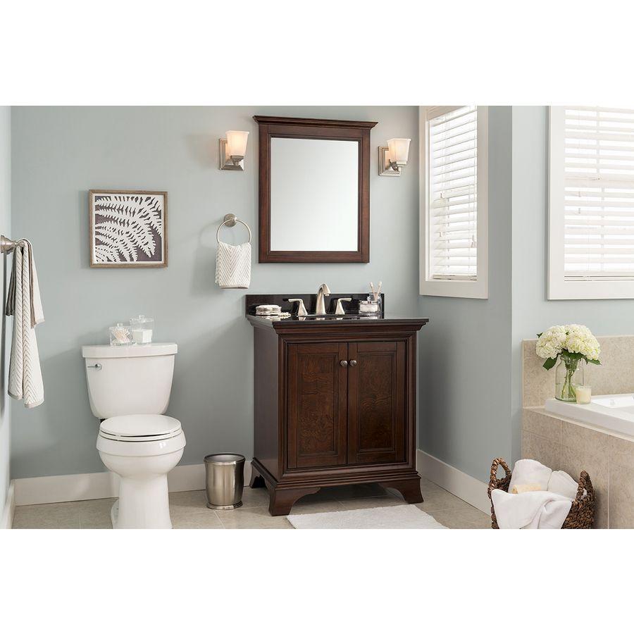 awesome Eastcott Vanity Part - 9: Shop allen + roth Eastcott Auburn Undermount Single Sink Poplar Bathroom  Vanity with Granite Top (Common: 31-in x 21-in; Actual: 30.94-in x  21.96-in) at ...