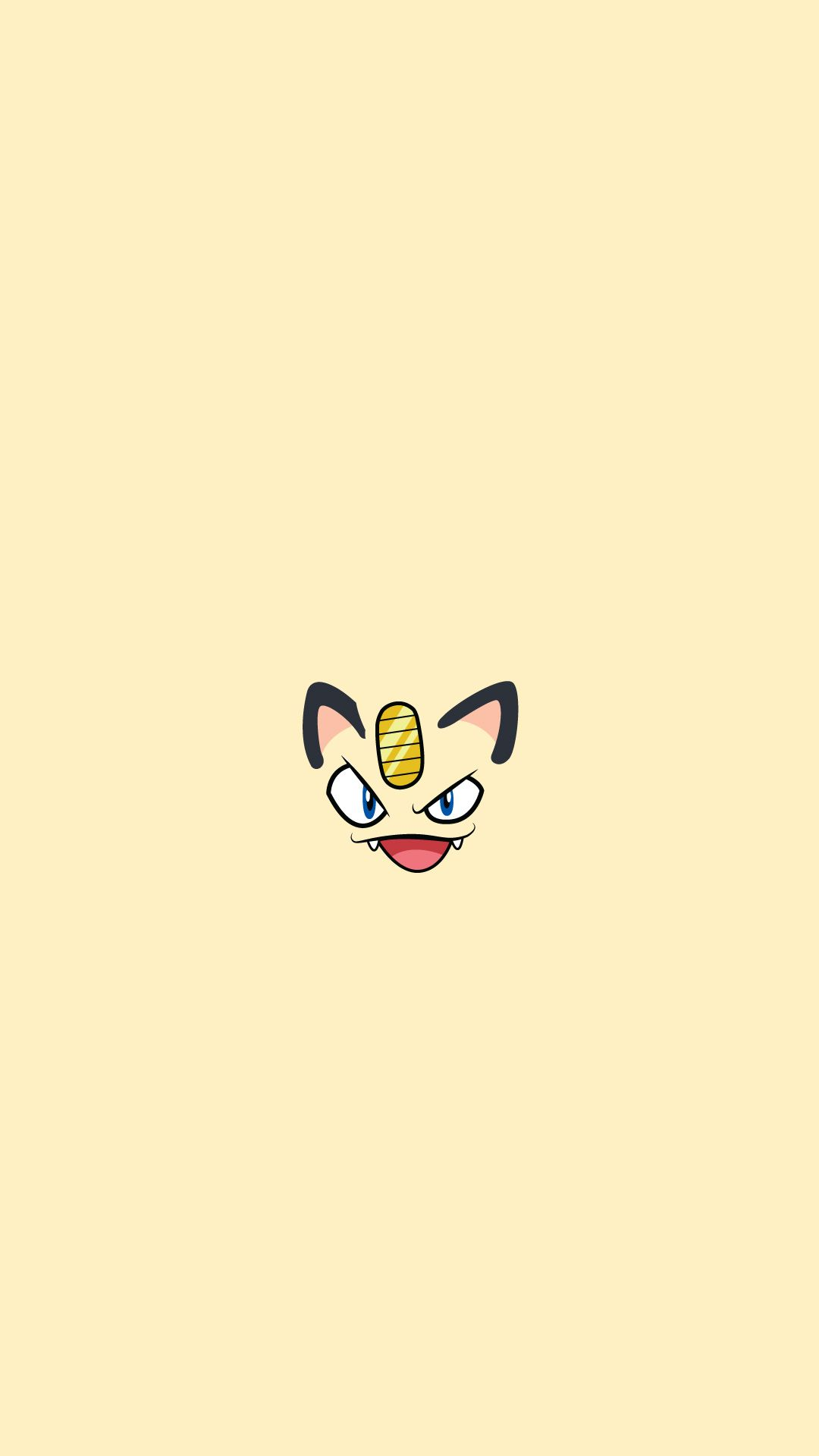 Meowth Pokemon Character iPhone 6+ HD Wallpaper 壁紙 かわいい