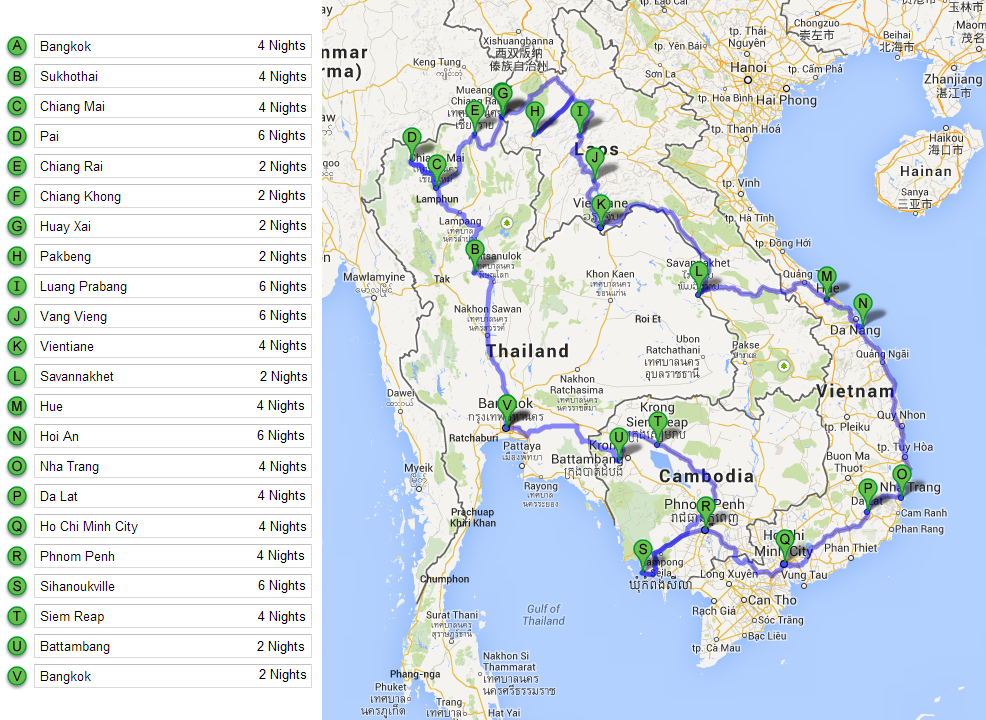 12 Weeks in South East Asia (Route) | Asia | Pinterest | Asia and ...