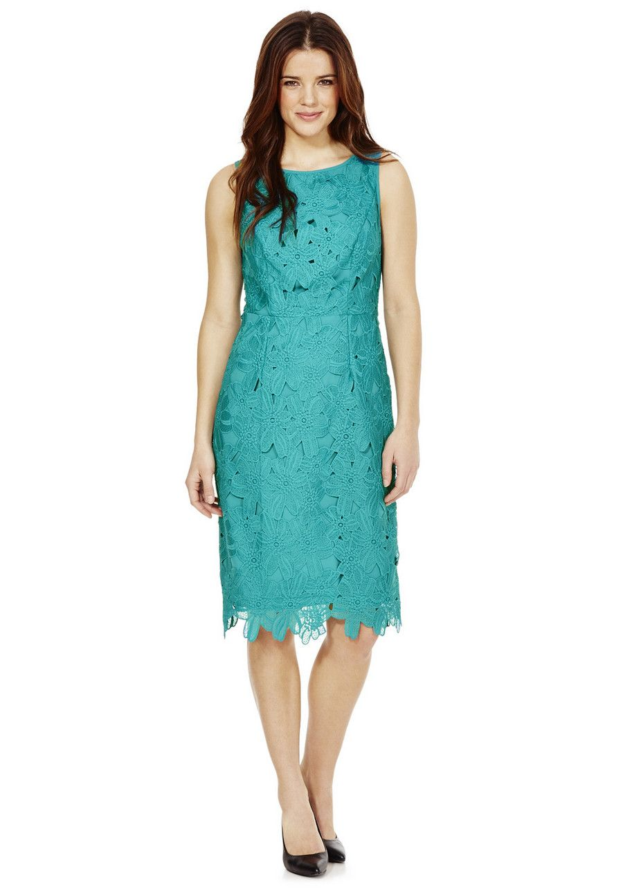 Clothing at Tesco | F&F Petite Lace Sleeveless Dress > dresses ...