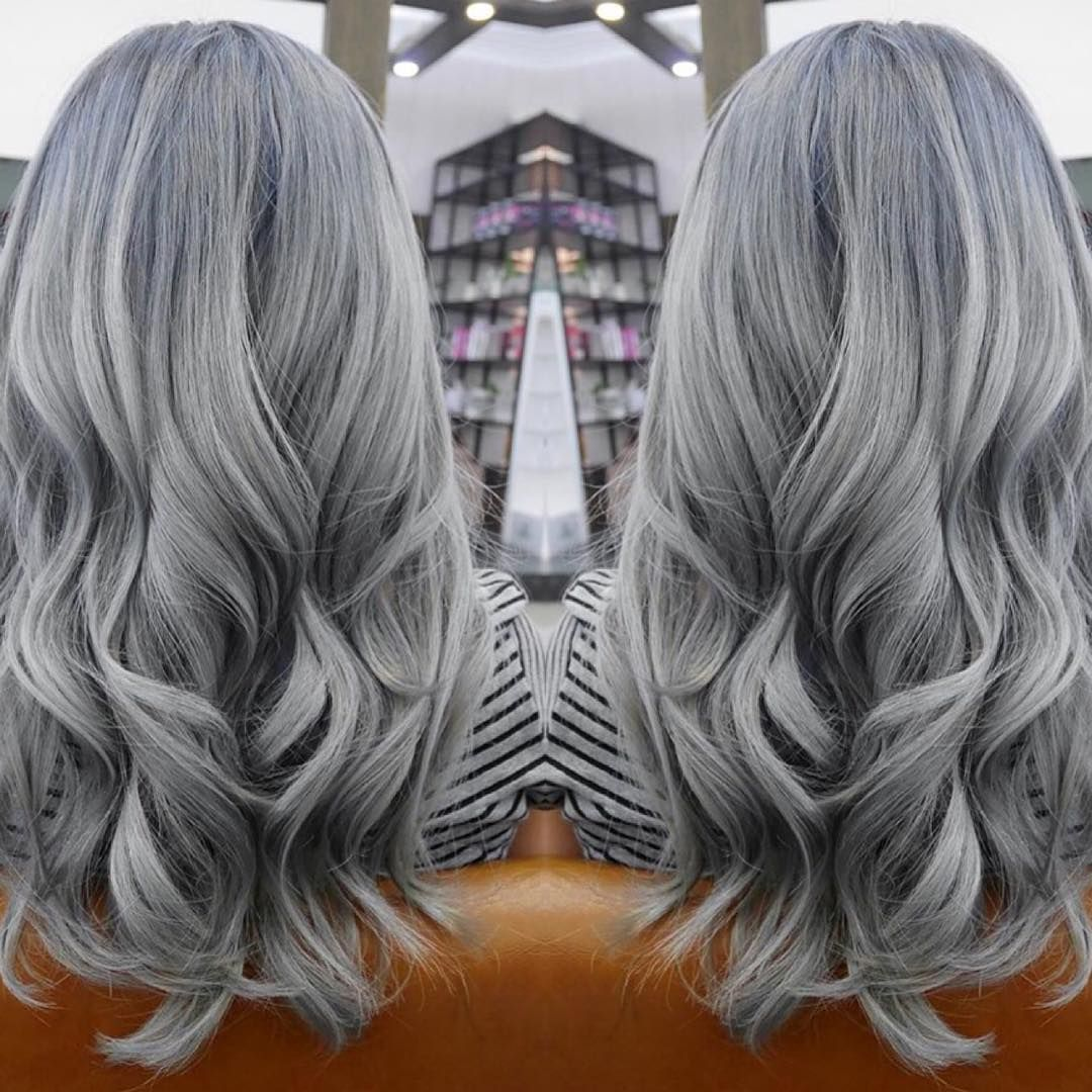 Happy Monday New Month New Hair Frost Grey Hair Color