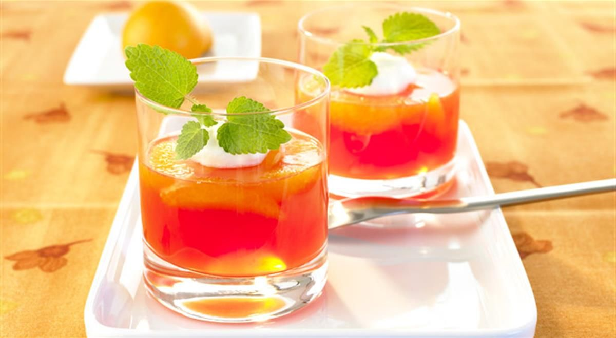 Blood Orange And Prosecco Jelly