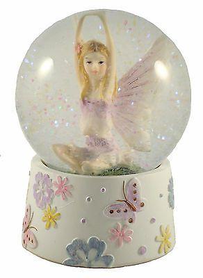 Fairy Snowglobe - Glitter Water Ball - Lilac - Fairies & Butterflies