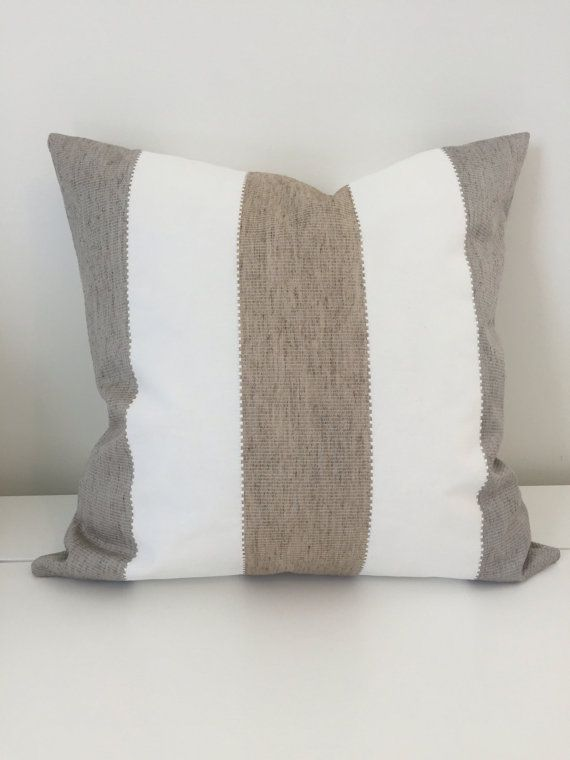 Neutral pillow cover Nautical pillow Sand Brown and by HacknerHome