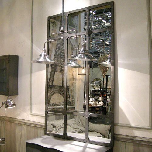 12 magnifiques miroirs industriels d couvrir miroir for Miroir xxl bois