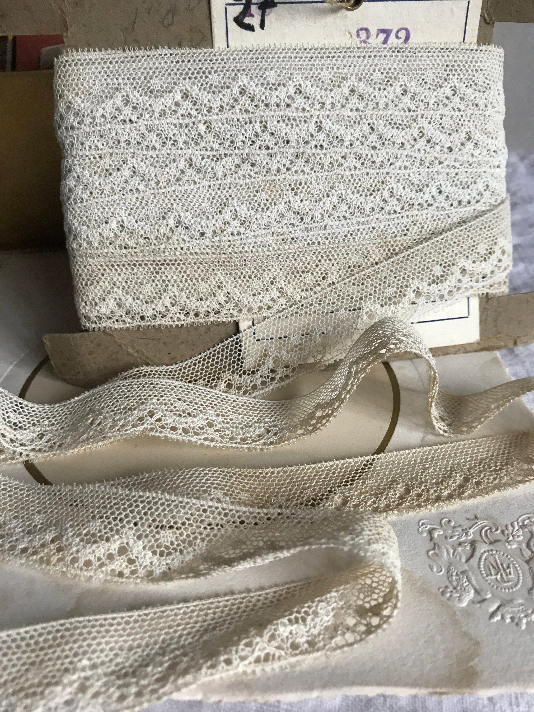 Antique Wedding Lace Vintage Lace Trim 4yd Vintage Wedding Furnishings /& Dolls