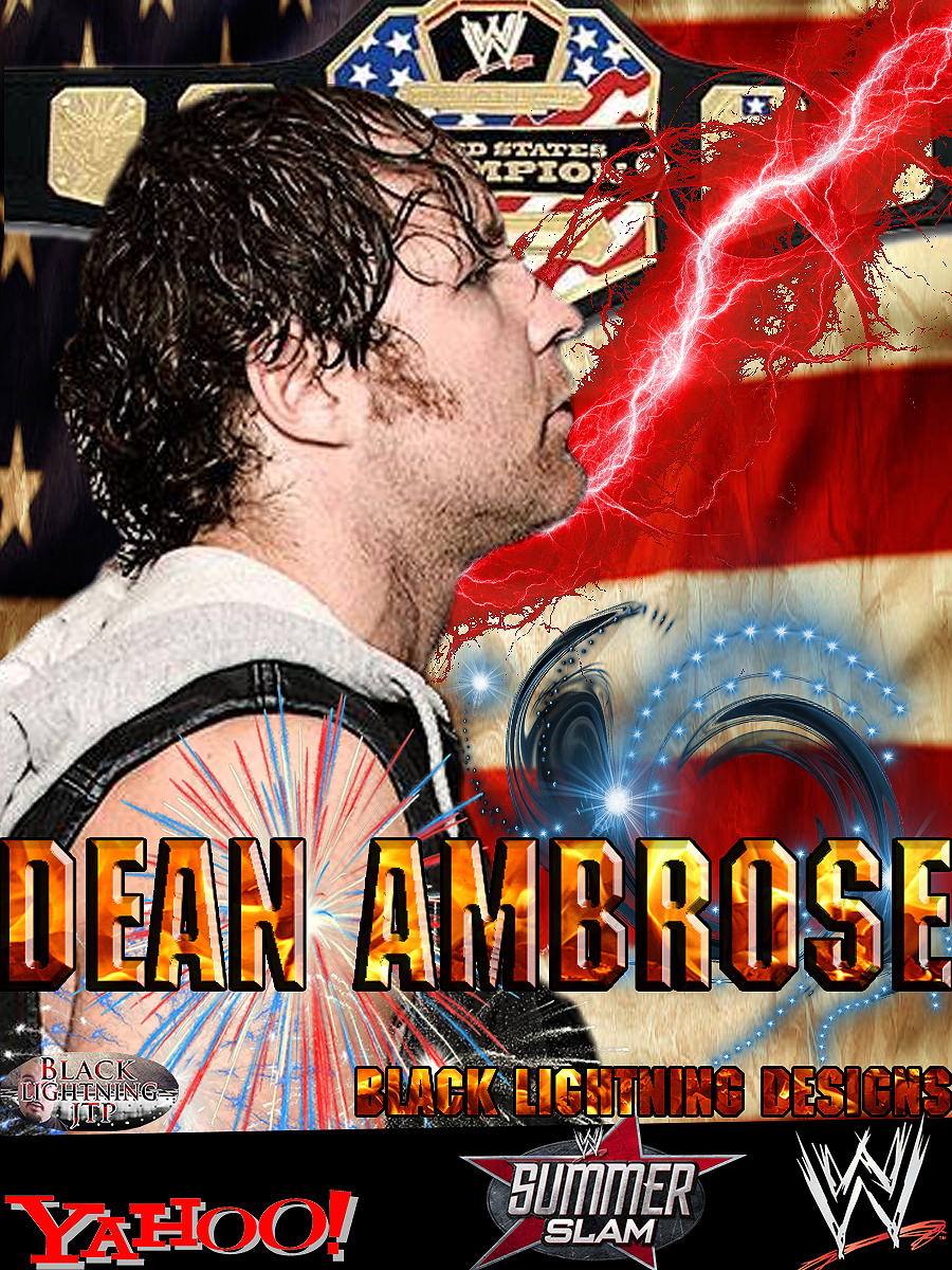 this is my dean ambrose poster i have created really hope everyone