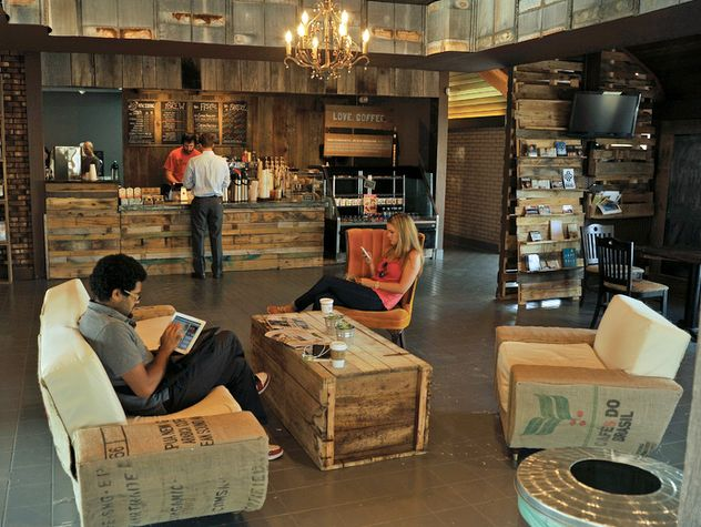 The Well Coffeehouse Nashville Lifestyles Rustic Coffee Shop Coffee Shop Decor Coffee Shop Interior Design