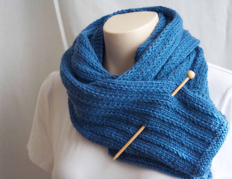 Patron tricot foulard tricoter foulard mod le tricot bleu laine ...