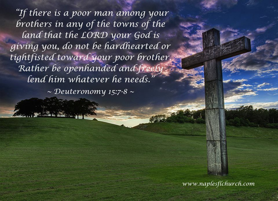 Do not be hardhearted or tightfisted toward your poor ...