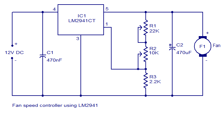 fan speed controller using lm2941 tech in 2019 diy electronicsfan speed controller using lm2941 diy electronics, electronics projects, motor speed, voltage regulator