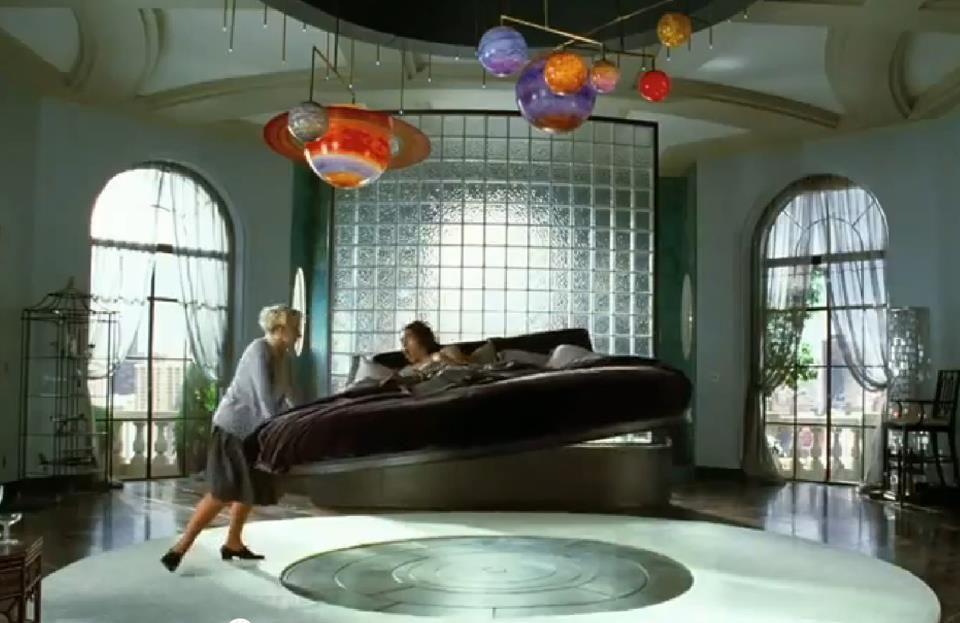 levitating magnetic bed - minimalistic design