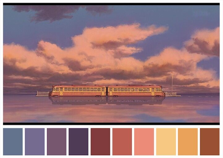 Color Palettes of Iconic Film Scenes | Spirited Away