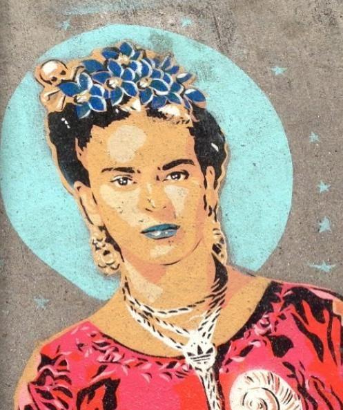 Mural de Frida....en alguna callecita de San Francisco