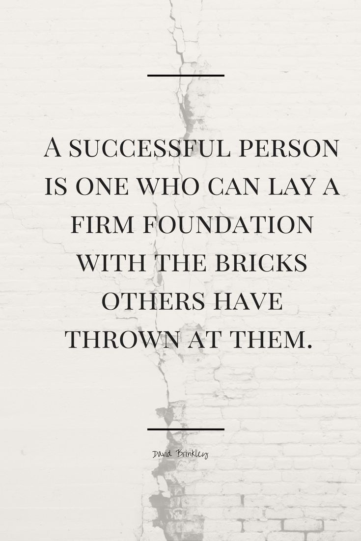 Foundation Quotes A Successful Person Is One Who Can Lay A Firm Foundation With The