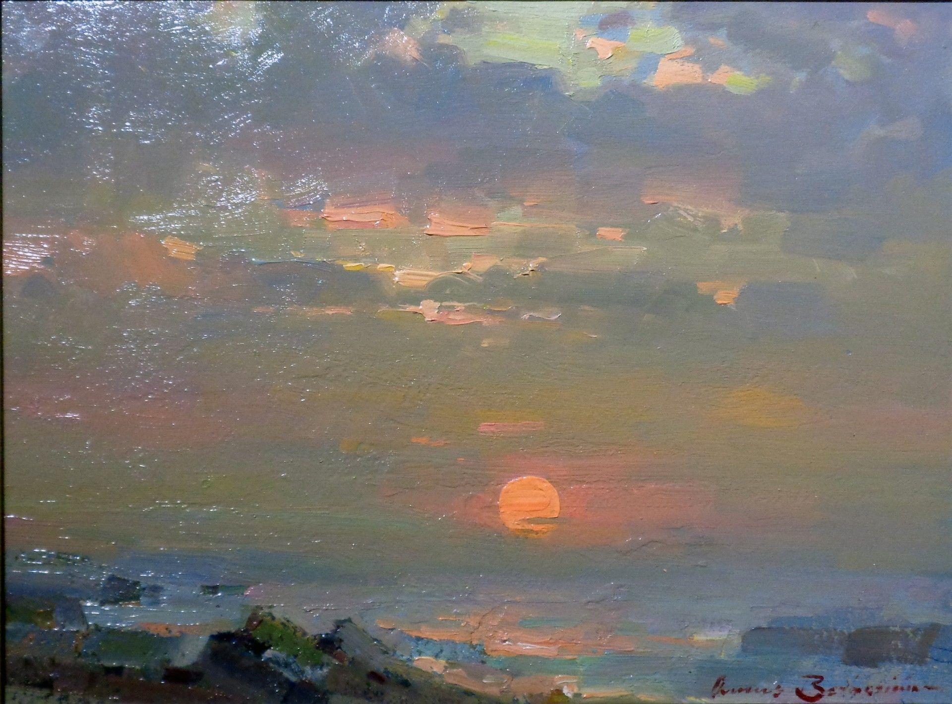 Ovanes Berberian Skyscape Art Oil Painting Landscape Mountain Landscape Photography