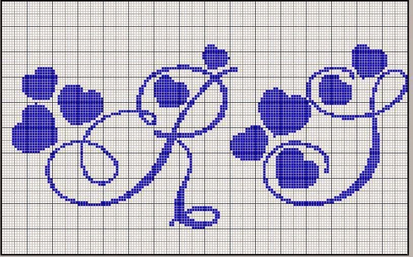 Hobby lavori femminili ricamo uncinetto maglia for Lettere a punto a croce