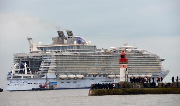 Imagen del crucero 'Harmony of the Seas', el más grande del mundo.Foto: Caribbean International