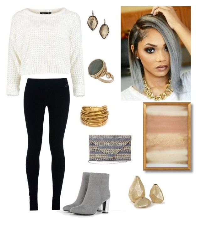 """""""Untitled #40"""" by alyissa-parson on Polyvore featuring CHARLES & KEITH, NIKE, Black & Sigi, Kendra Scott and Topshop"""