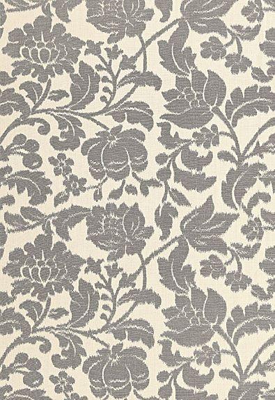 Tranquil Vine Schumacher Fabric Vine charcoal, Floral