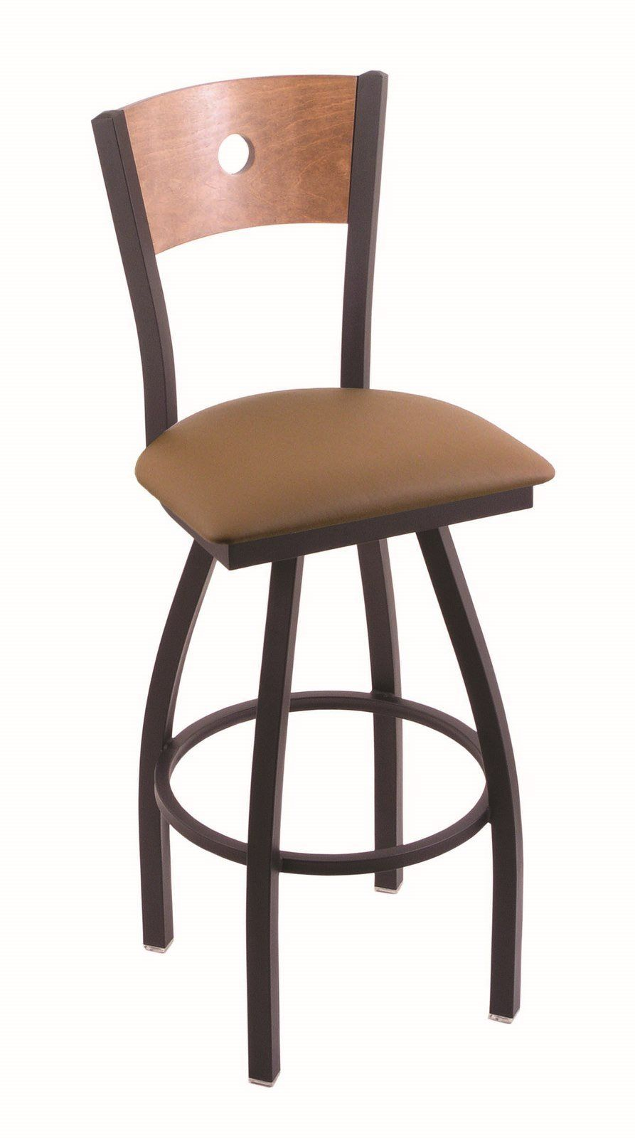 Holland Bar Stool Co 830 Voltaire 30 Bar Stool With Black Wrinkle Finish Medium Maple Back And Swivel Seat Allante Bar Stools 36 Bar Stools Holland Bar Stool