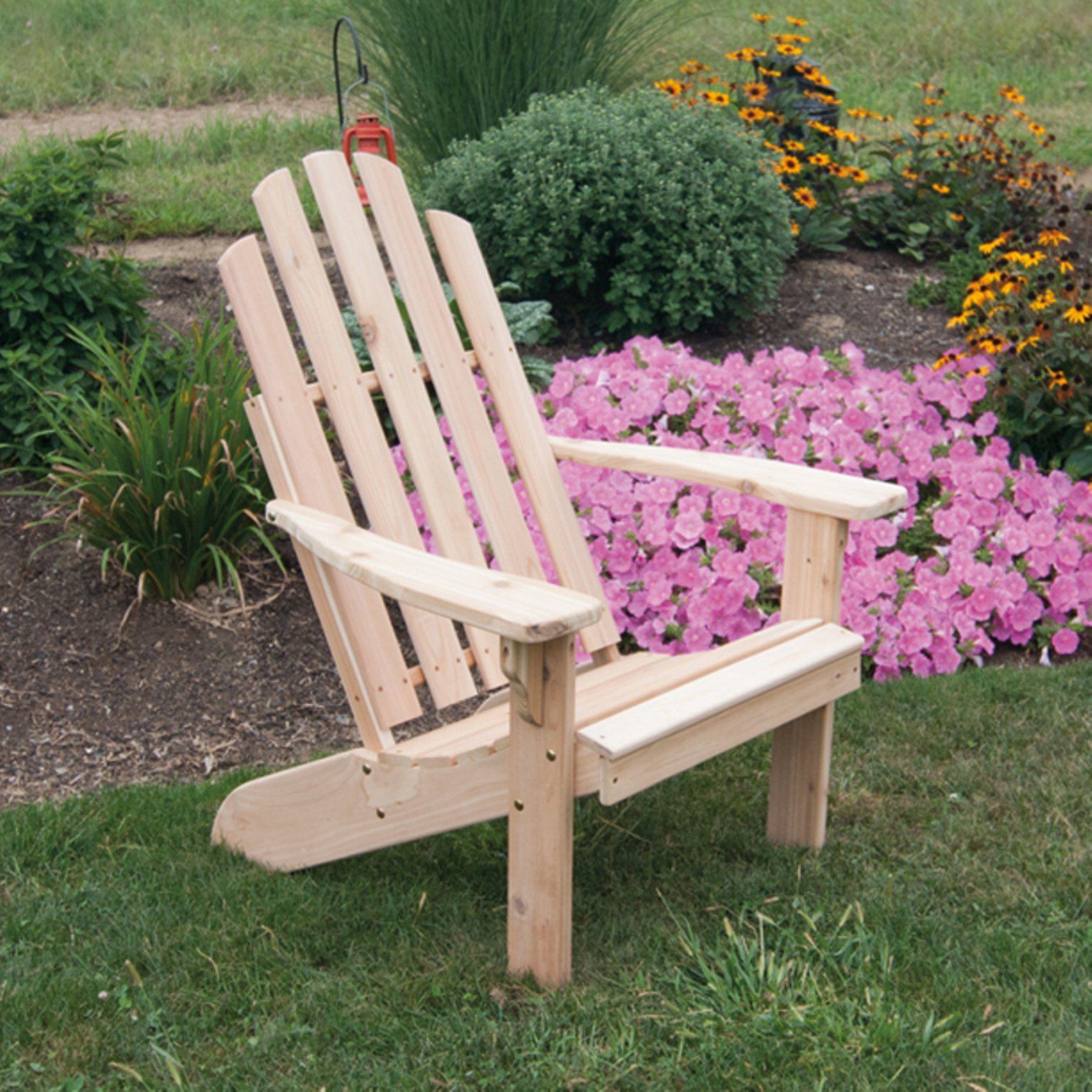 Outdoor a u l furniture kennebunkport western red cedar adirondack