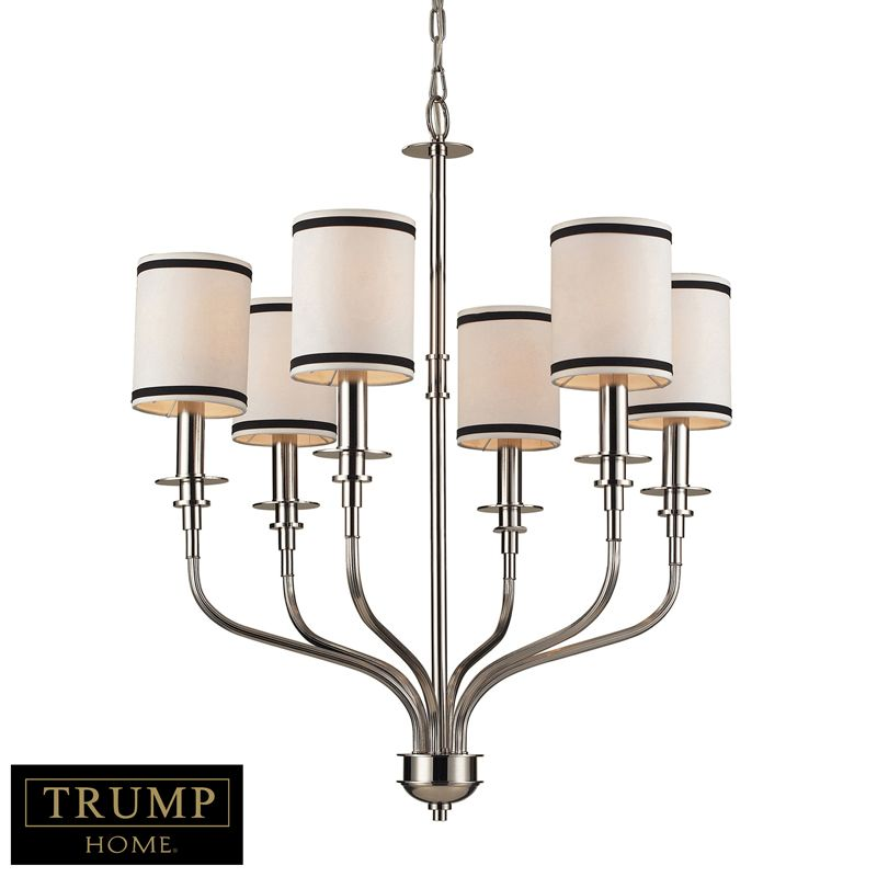 TRIBECA collection CHANDELIER IN POLISHED NICKEL for ...