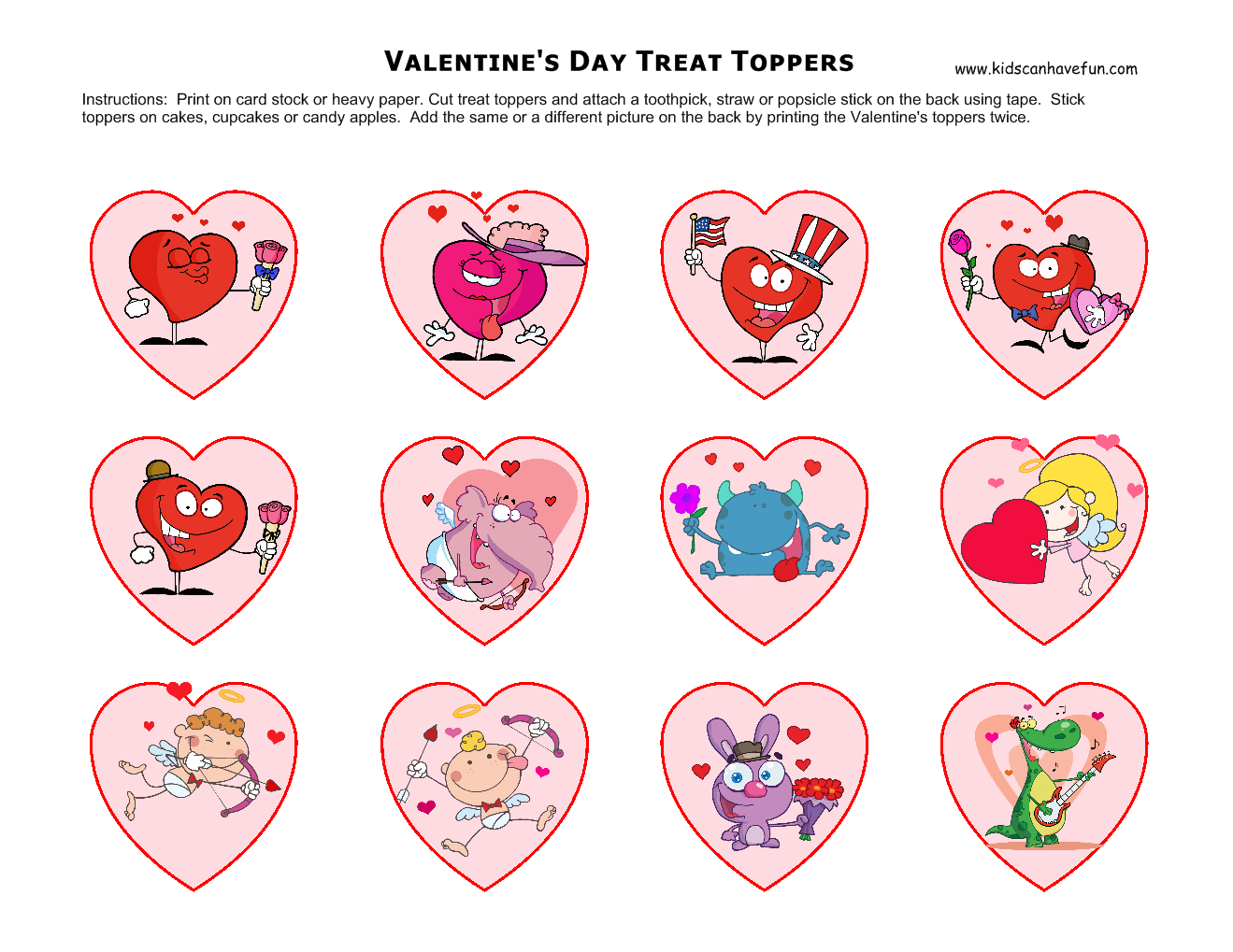 Valentine S Day Treat Toppers